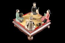 Jouet représentant des joueurs de cartes