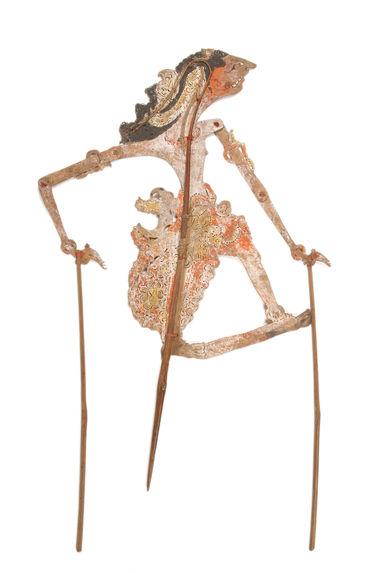Figure de wayang kulit : Demang Tandang Rena (?) Arjuna Sastra