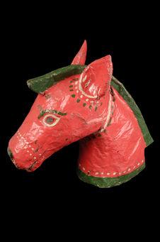 Masque de théâtre : cheval