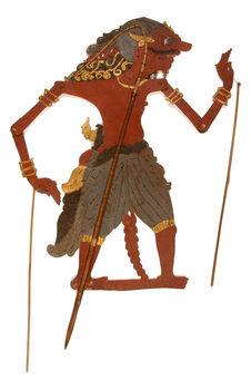 Figure d'ombres : démon-guerrier Pati Raden Vira Bumi