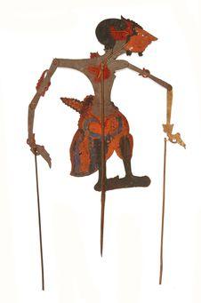 Figure d'ombres : démon-guerrier Patek Jaya Singa
