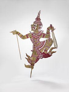 Figurine de théâtre d'ombres : démon Sa' Wa Rat