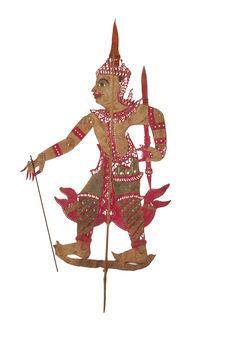 Figurine de théâtre d'ombres : prince Thao Phromathat