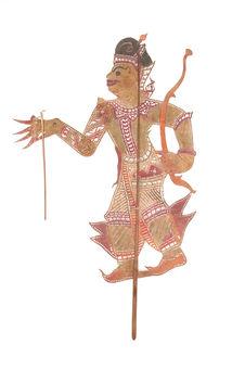 Figurine de théâtre d'ombres : prince (Chao Uong)