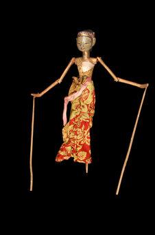 Marionnette de wayang golek : Durupadri ou Drupadi