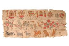 Motifs bouddhiques sur papier