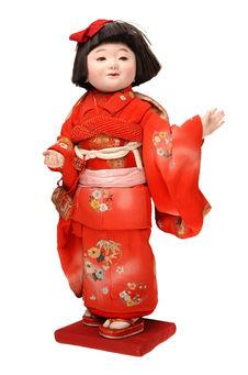 Poupée de fillette en kimono