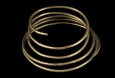 Collier spiralé en cuivre