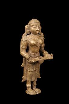 Lampe-statuette figurant Lakshmi