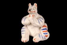 Figurine représentant un des renards musiciens