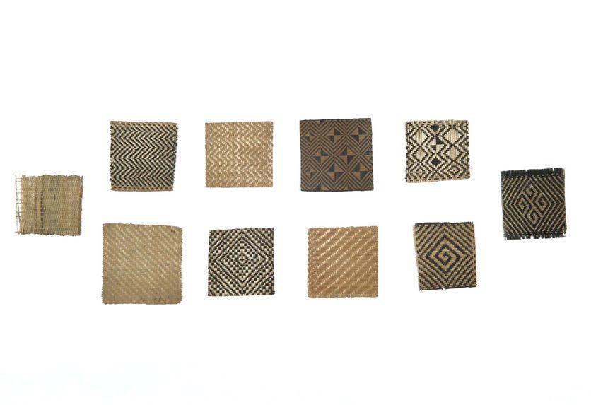 Echantillon de motif décoratif de vannerie