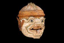 Masque de théâtre: singe (Subali ou Hanuman)