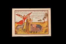 Image populaire: le sacrifice d'Abraham