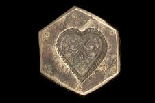 Matrice d'orfèvrerie représentant un coeur