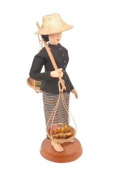 Statuette en soie
