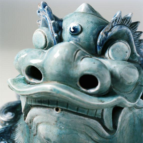Tête de dragon vernissée