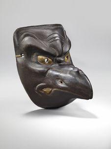 Masque d'oiseau mythique (tengu)
