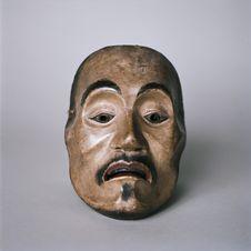 """Masque de Nô de type """"visage émacié"""" (yase otoko)"""