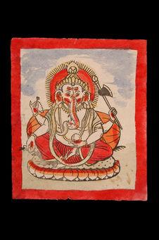 Images, sujets religieux, peinture polychrome, sur papier