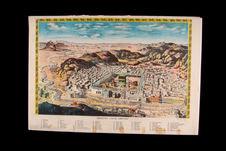 Image populaire : panorama de la Mecque