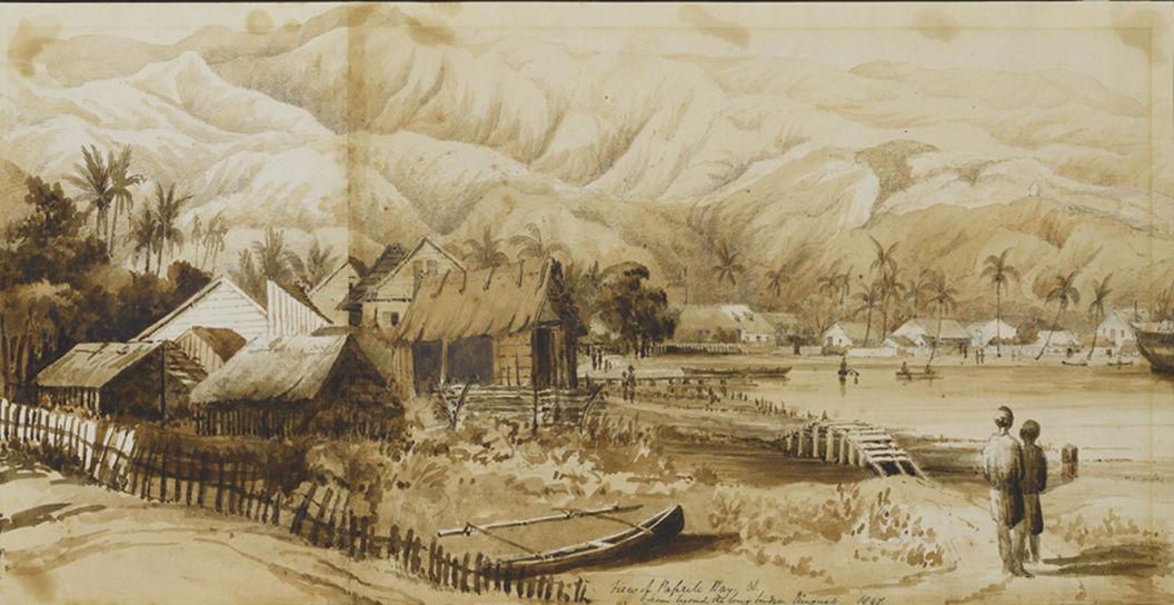 Vue de la baie de Papeete depuis le grand pont