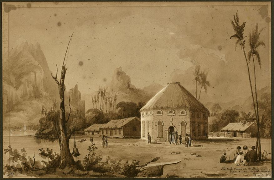 Eglise en corail à Papetoai