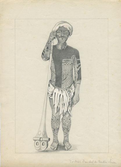 Portrait d'un chef du Nuku-Hiva