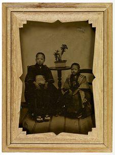 Sans titre [portrait de deux enfants]
