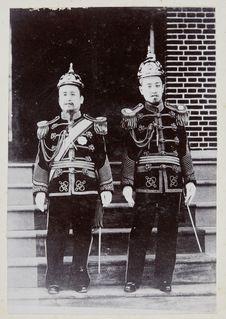 Sans titre [L'Empereur Kojong avec le prince héritier Sunjong]