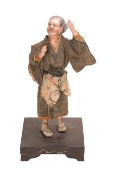 Statuette représentant un chanteur