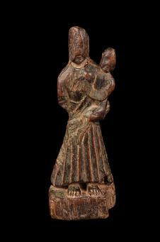 Statuette de femme avec enfant