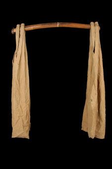 Ensemble de portage à grains, fléau et 2 sacs de toile de coton écru