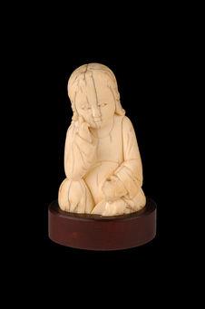 Figurine de l'enfant Jésus sauveur du monde