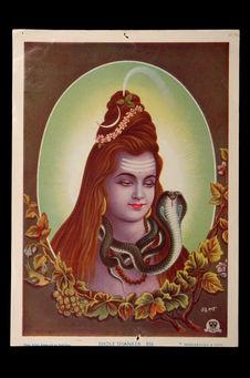 Image pieuse figurant Shiva