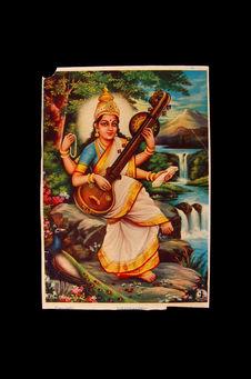 Image pieuse figurant Sarasvati