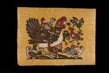Image populaire : poule avec poussins