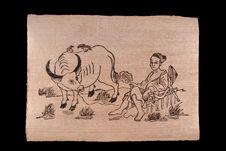 Image populaire : repos du paysan après hersage
