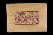 Image populaire : lutte au village : procession du tambour et présentation des...