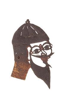 Figure d'ombres : tête pour rôle de bouffon