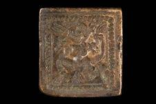 Matrice à plaque ornementale ou votive