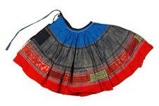 Costume de fillette : jupe plissée