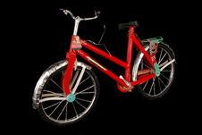 Objet votif en papier à brûler : vélo rouge