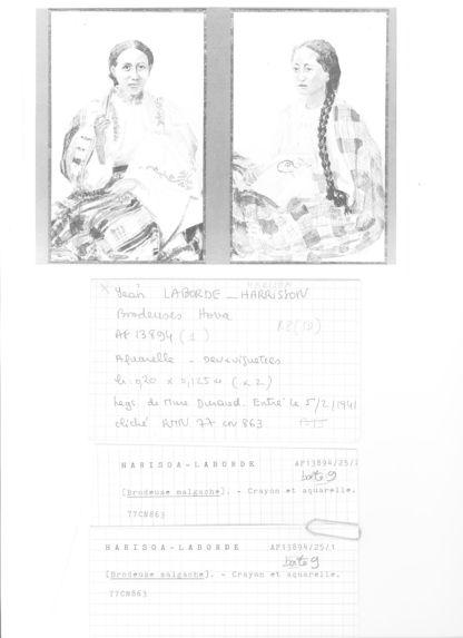 Sans titre [Portrait de brodeuse malgache]