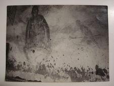 A Gatongo, Alexandre, un noir Pomo, avait représenté sur les murs de sa case un...