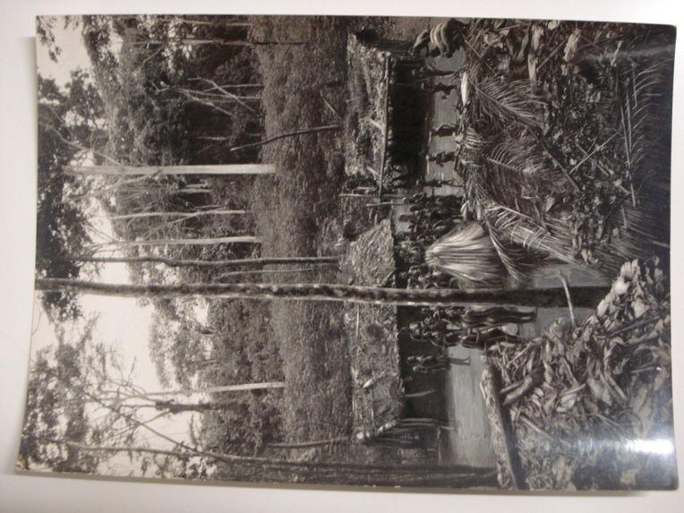 Le campement des Pygmées Bangombé pendant la danse d'Edzingui, esprit de la forêt