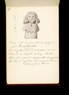 Image isolée du grand dieu des Aztèques