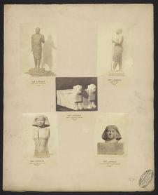 Art antique, même figure, vue de face