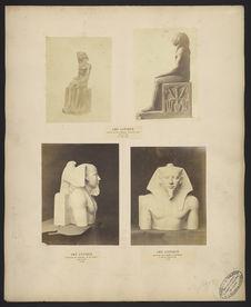 Art antique, tête du figure en pierre calcaire