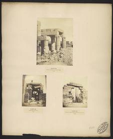 Karnak, piliers de syénite érigés devant le sanctuaire