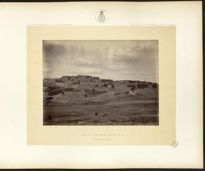 Indian Pueblo, Zuni, N. M. View form the South